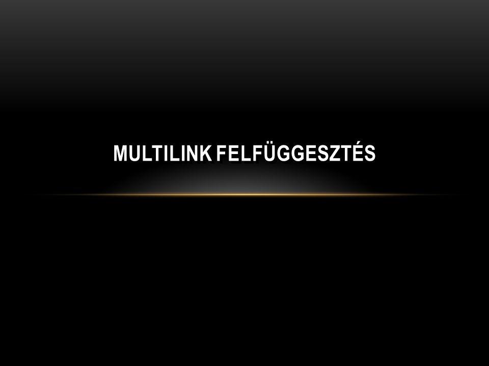MULTILINK FELFÜGGESZTÉS