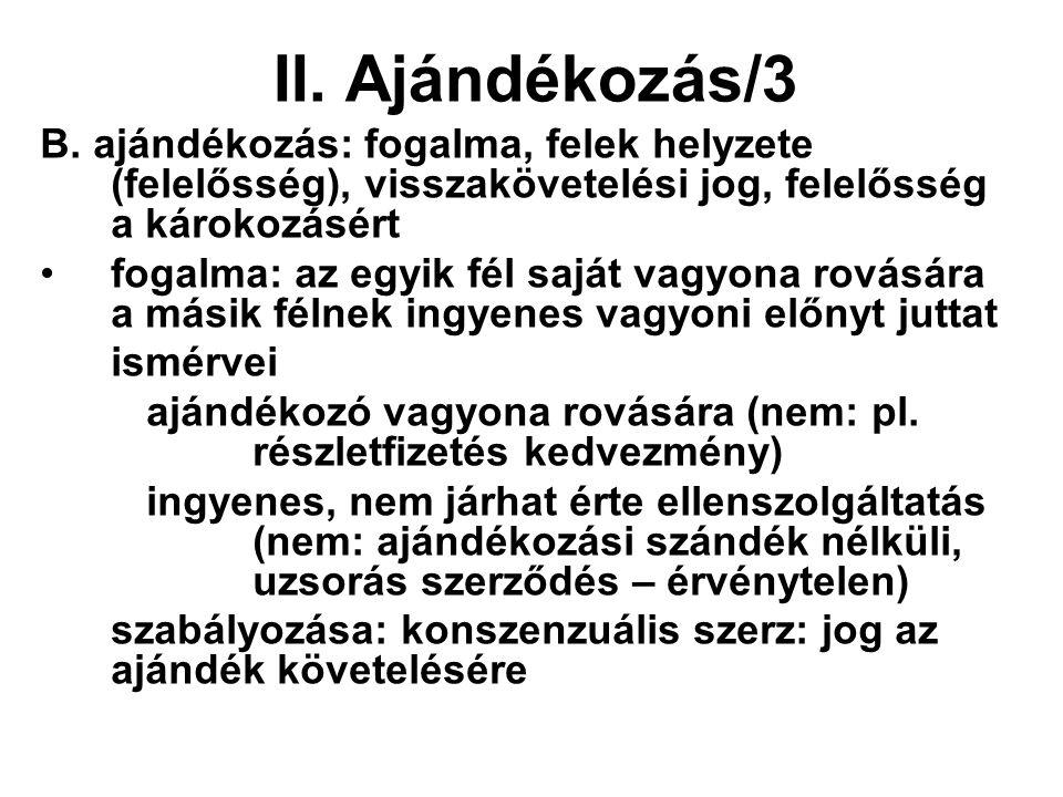 II. Ajándékozás/3 B.