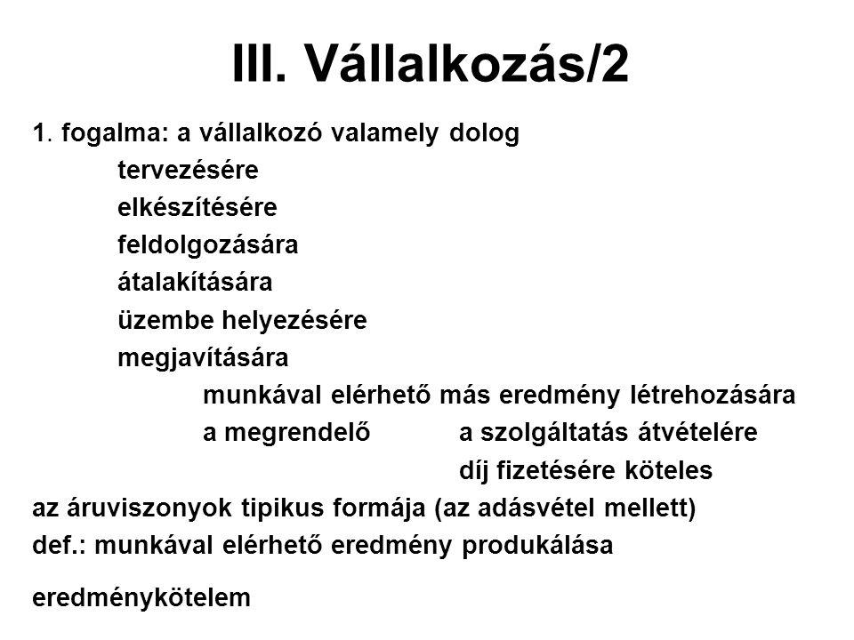 III. Vállalkozás/2 1.