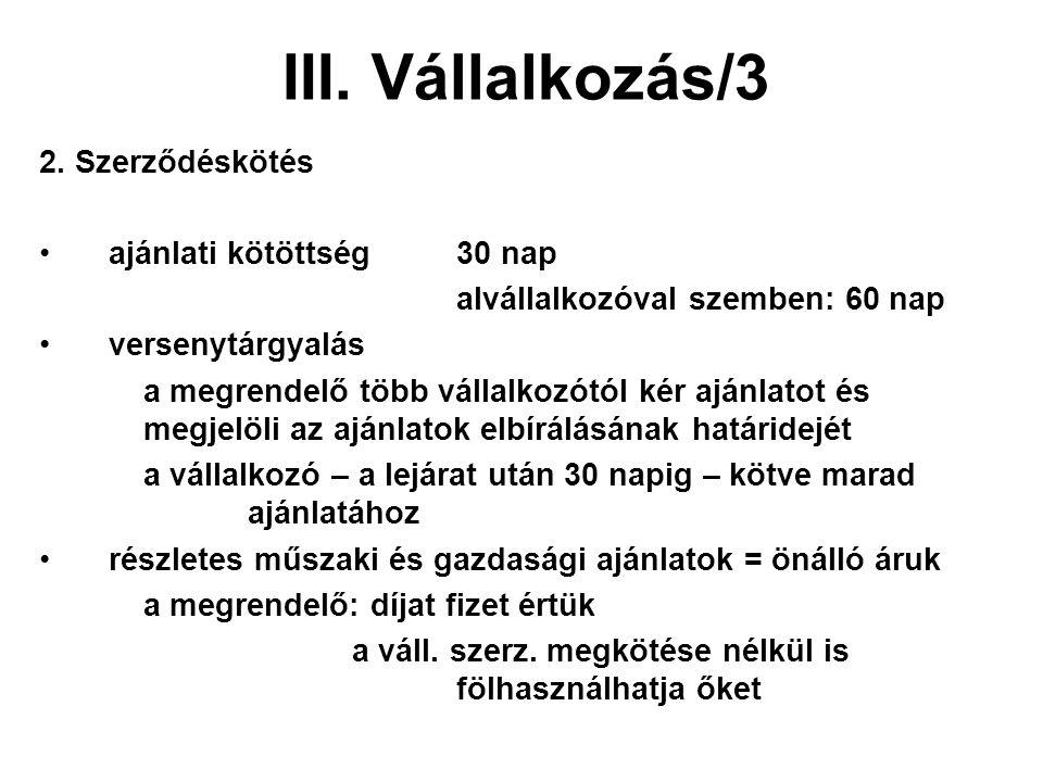 III. Vállalkozás/3 2.