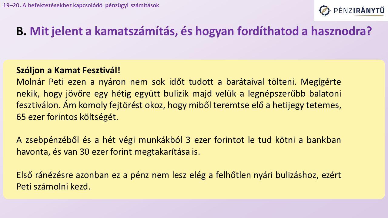 Szóljon a Kamat Fesztivál. Molnár Peti ezen a nyáron nem sok időt tudott a barátaival tölteni.