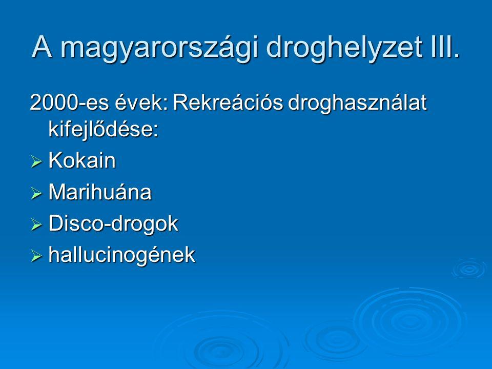 A magyarországi droghelyzet III.