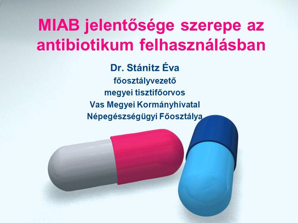 MIAB jelentősége szerepe az antibiotikum felhasználásban Dr.