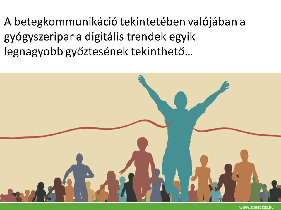 A betegkommunikáció tekintetében valójában a gyógyszeripar a digitális trendek egyik legnagyobb győztesének tekinthető…