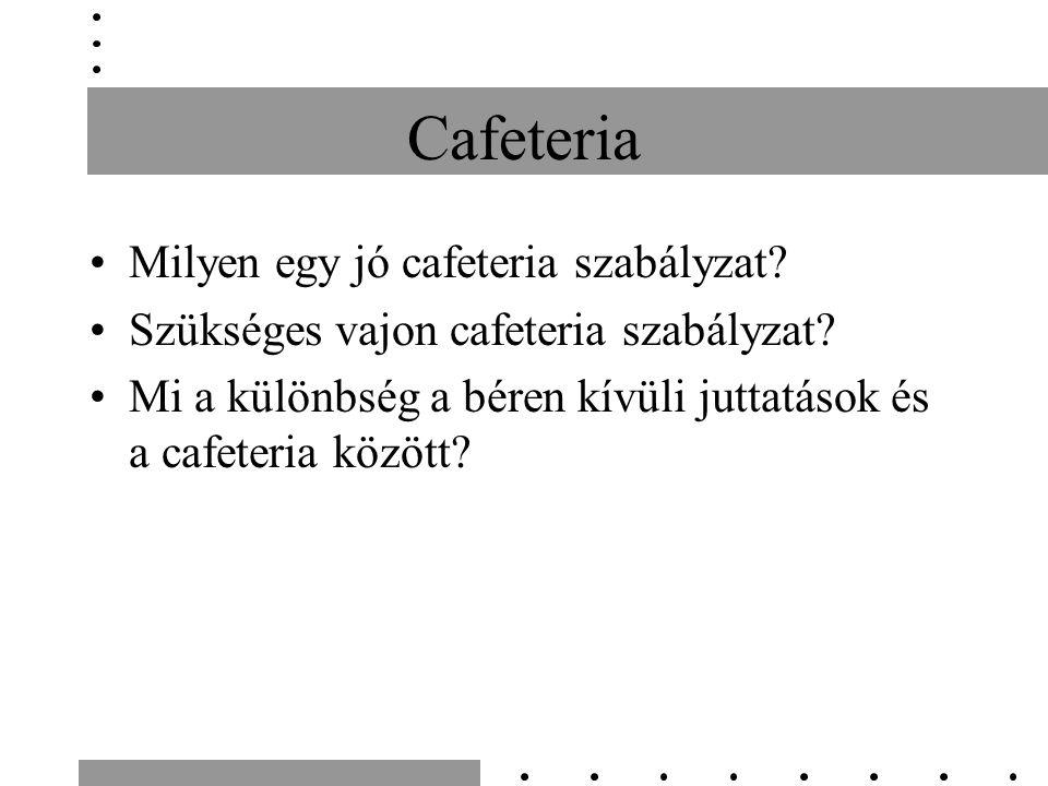 Cafeteria Milyen egy jó cafeteria szabályzat. Szükséges vajon cafeteria szabályzat.