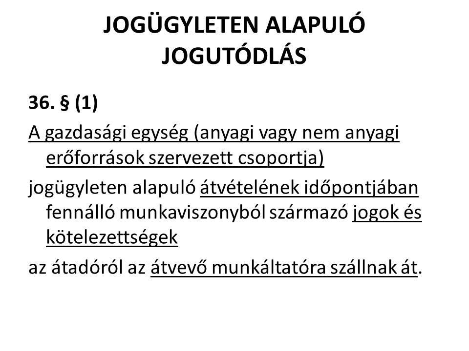 JOGÜGYLETEN ALAPULÓ JOGUTÓDLÁS 36.