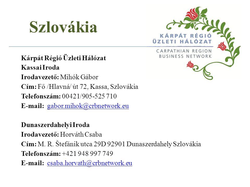 Szlovákia MEGHÍVÓ VIDÉK JÖVŐJE c.rendezvényre és üzletember találkozóra Időpont: 2013.