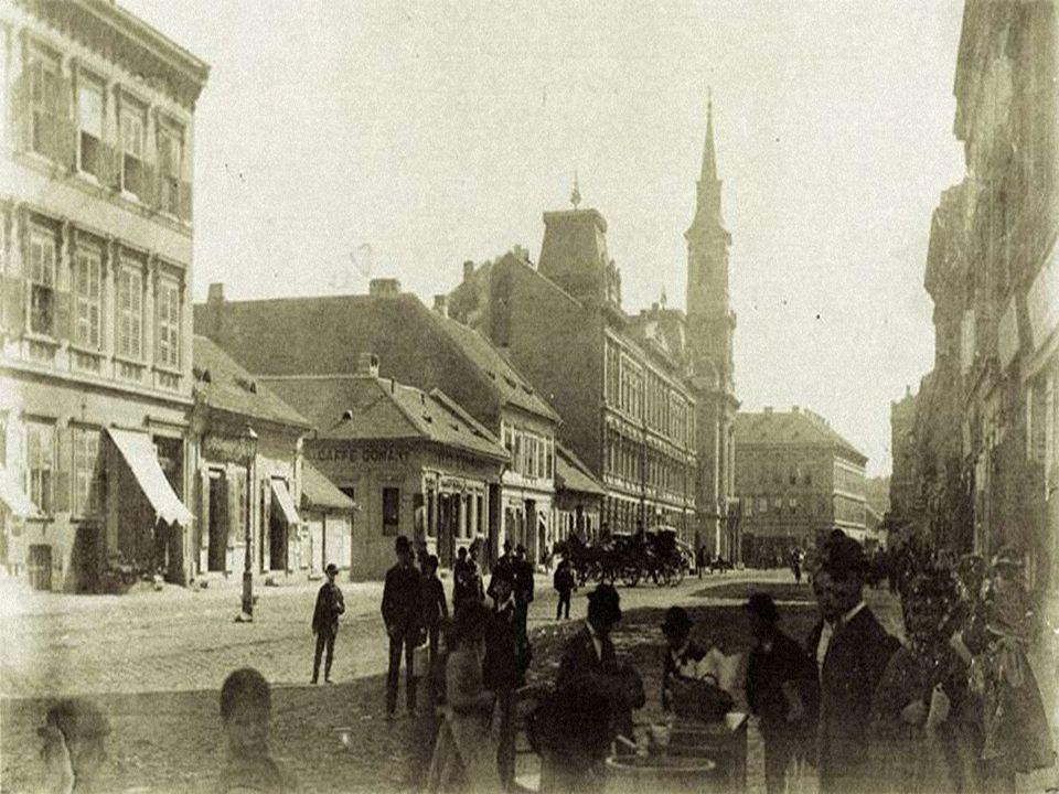 Kilátás a Disznófő vendéglőre. A felvétel 1880–1890 között készült.