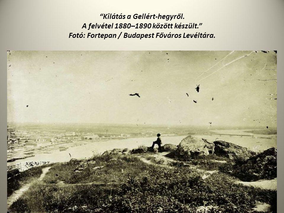 """""""Kilátás a Gellért-hegyről. A felvétel 1880–1890 között készült."""" Fotó: Fortepan / Budapest Főváros Levéltára."""