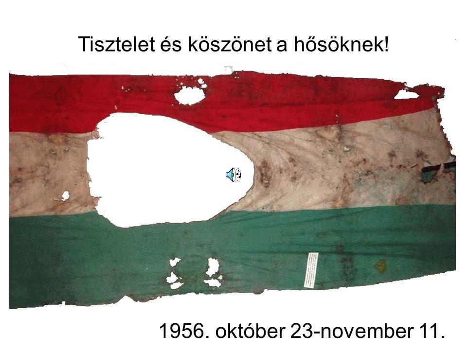 Tisztelet és köszönet a hősöknek! 1956. október 23-november 11.