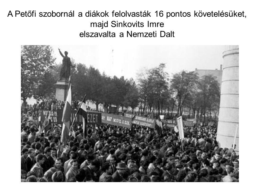 A tüntetők barátkozni igyekeztek a szovjet katonákkal, kétnyelvű röplapokat osztogattak, az őrt álló harckocsik tetejére pedig jó néhányan fel is másztak.