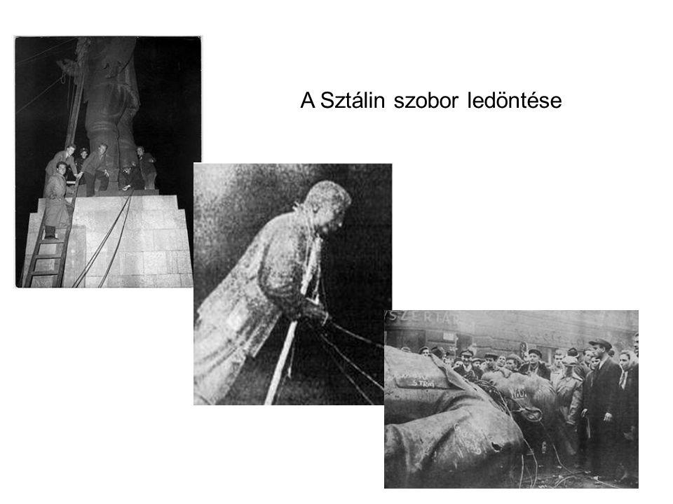 A Sztálin szobor ledöntése