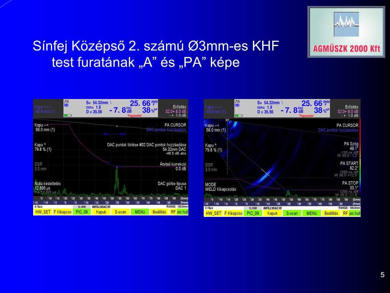 """Sínfej Középső 2. számú Ø3mm-es KHF test furatának """"A"""" és """"PA"""" képe 5"""