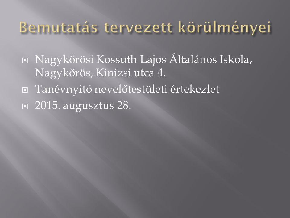  Nagykőrösi Kossuth Lajos Általános Iskola, Nagykőrös, Kinizsi utca 4.