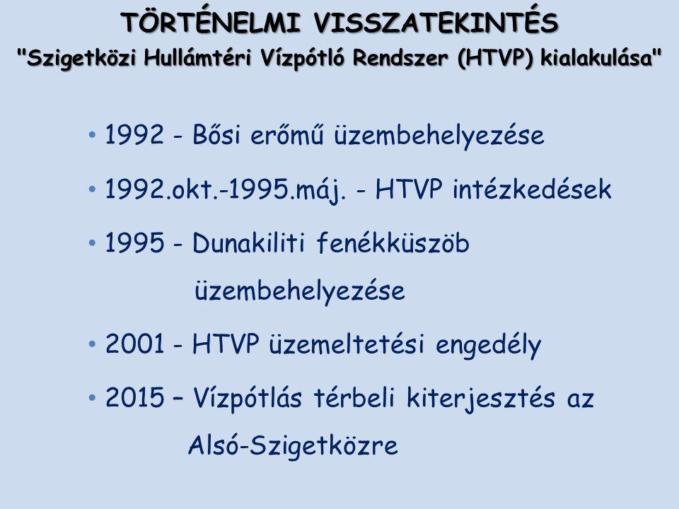 1992 - Bősi erőmű üzembehelyezése 1992.okt.-1995.máj.