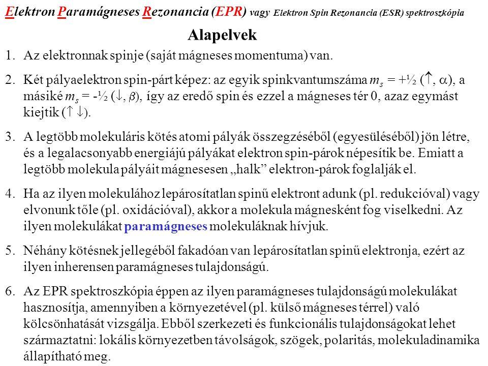 A harmonikus oszcillátor energia-értékei A Schrödinger egyenlet megoldása: E n = h·ν(n + ½), where n = 0, 1, 2,...