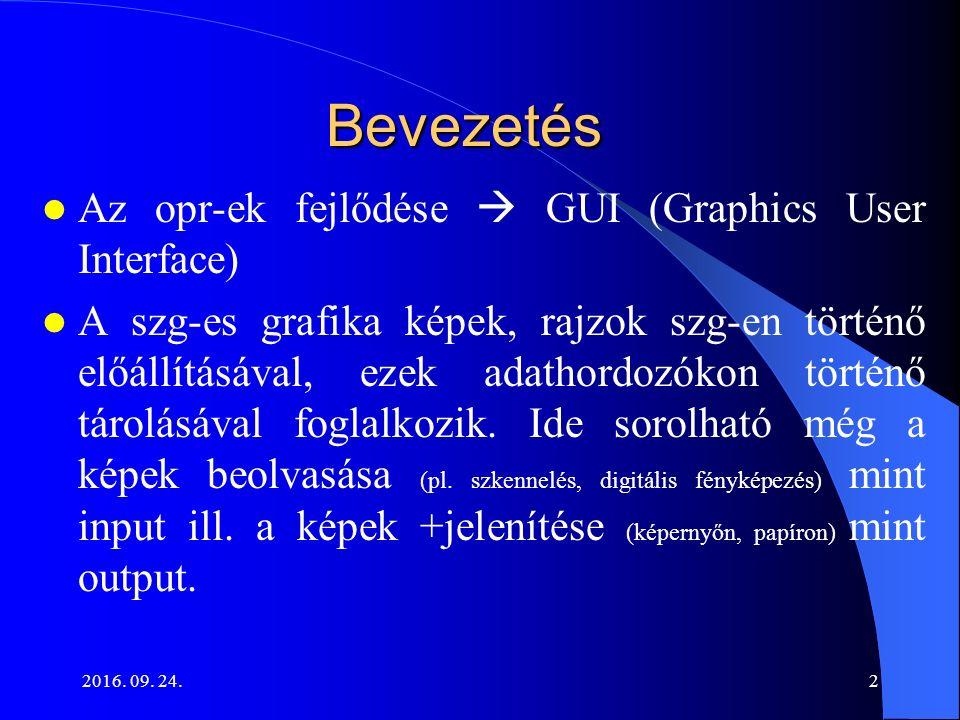 2016.09. 24.3 A szg-es grafika fajtái 1. Raszteres (v.