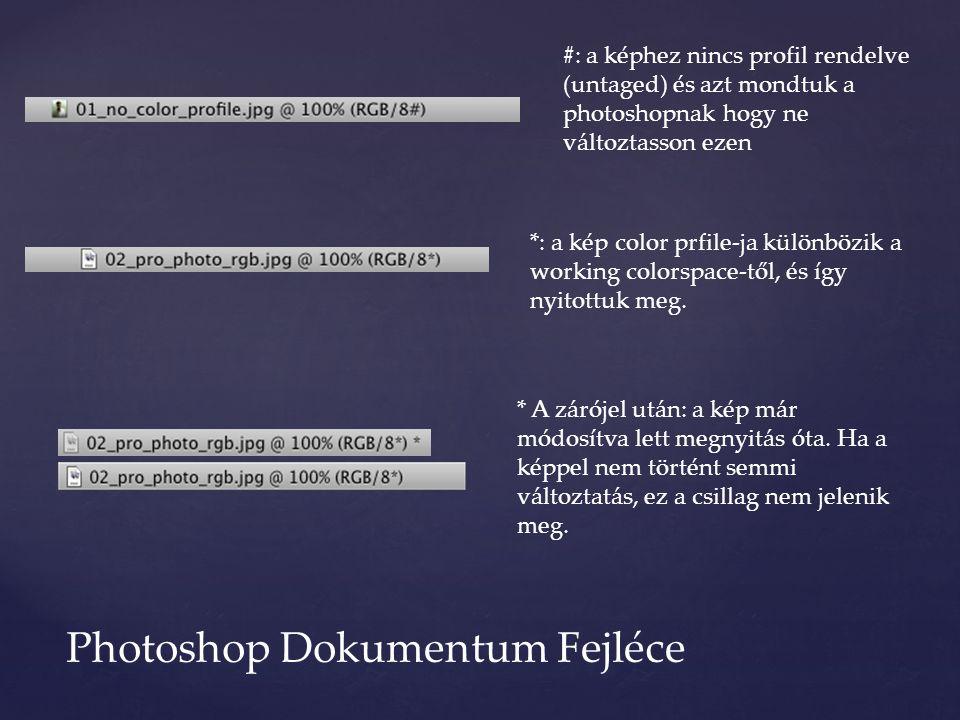 #: a képhez nincs profil rendelve (untaged) és azt mondtuk a photoshopnak hogy ne változtasson ezen *: a kép color prfile-ja különbözik a working colo