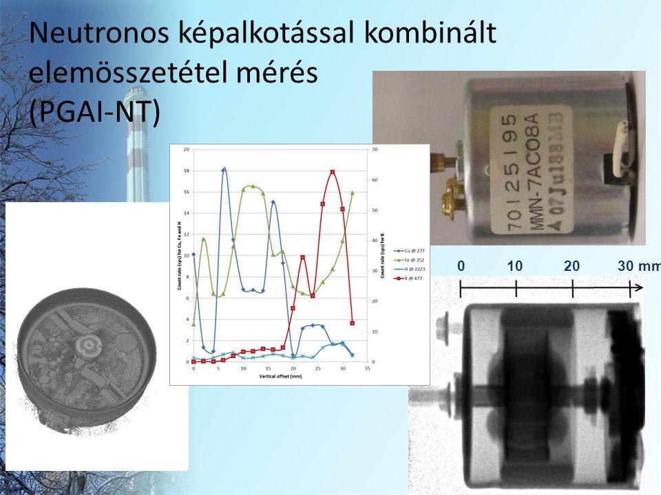 Neutronos képalkotással kombinált elemösszetétel mérés (PGAI-NT) 14 0 10 20 30 mm