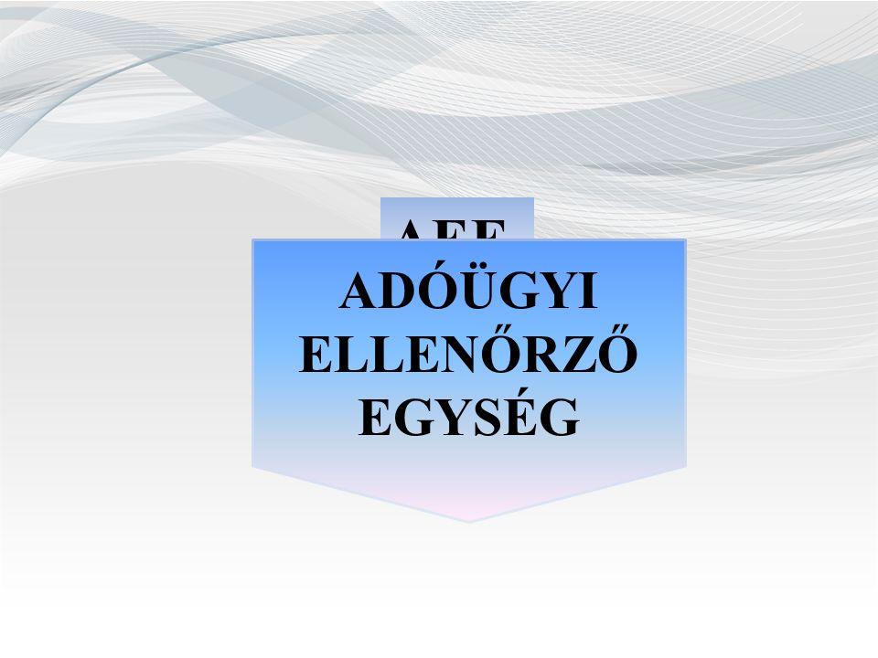 Jogszabályi háttér Adózás rendjéről szóló 2003.évi XCII.