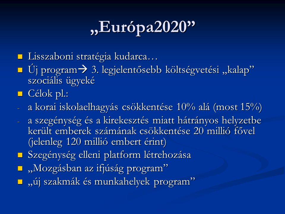"""Európa2020 Lisszaboni stratégia kudarca… Lisszaboni stratégia kudarca… Új program  3."