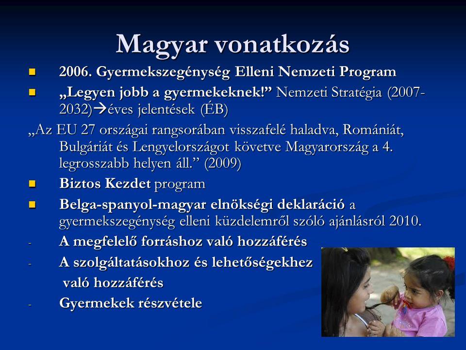 Magyar vonatkozás 2006. Gyermekszegénység Elleni Nemzeti Program 2006.
