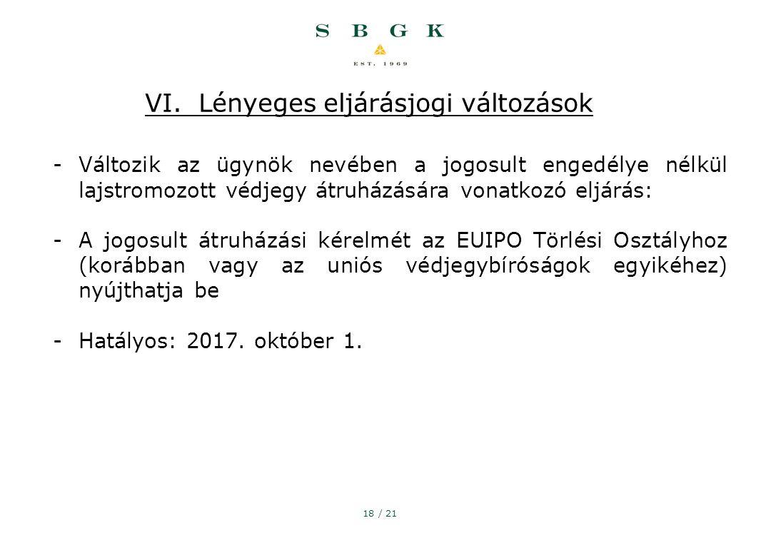 18 / 21 VI.