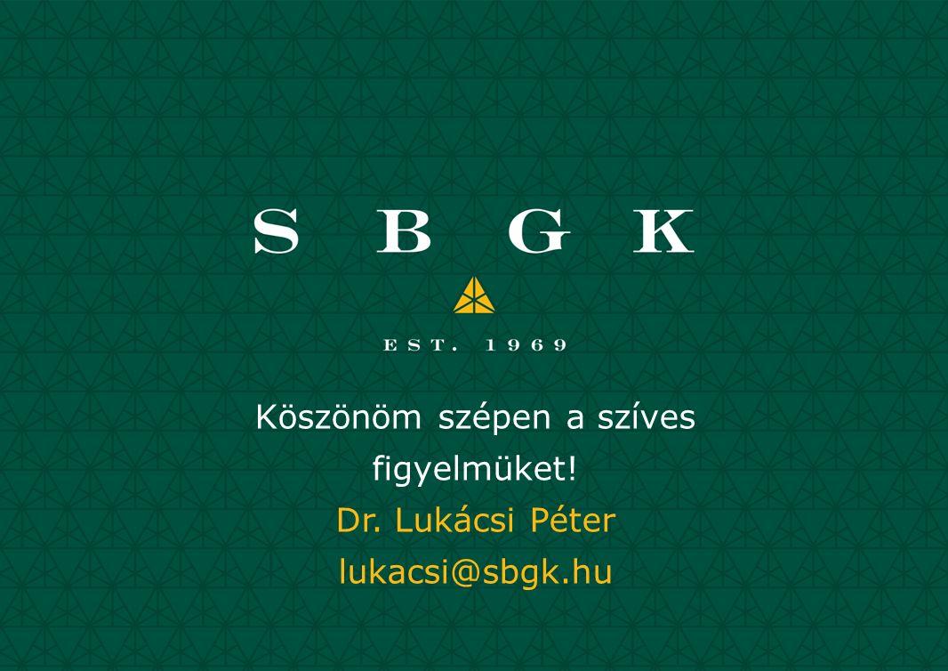 Köszönöm szépen a szíves figyelmüket! Dr. Lukácsi Péter lukacsi@sbgk.hu