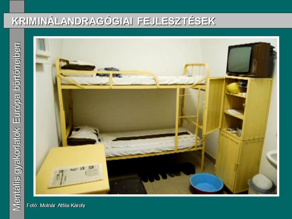 KRIMINÁLANDRAGÓGIAI FEJLESZTÉSEK Mentális gyakorlatok Európa börtöneiben Mentális gyakorlatok Európa börtöneiben Fotó: Molnár Attila Károly