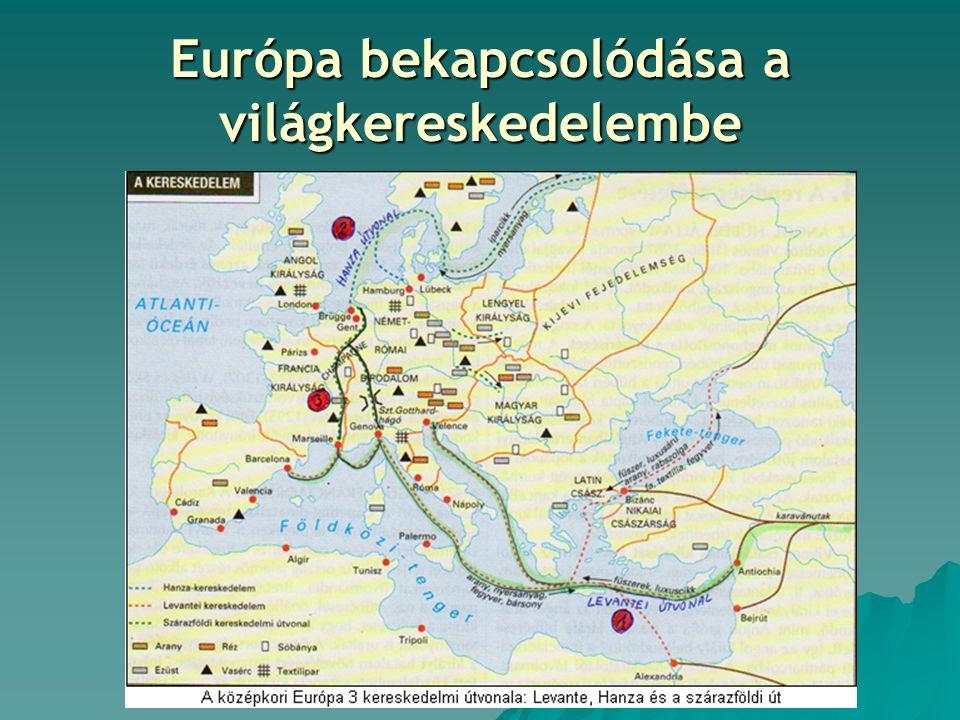 Európa bekapcsolódása a világkereskedelembe