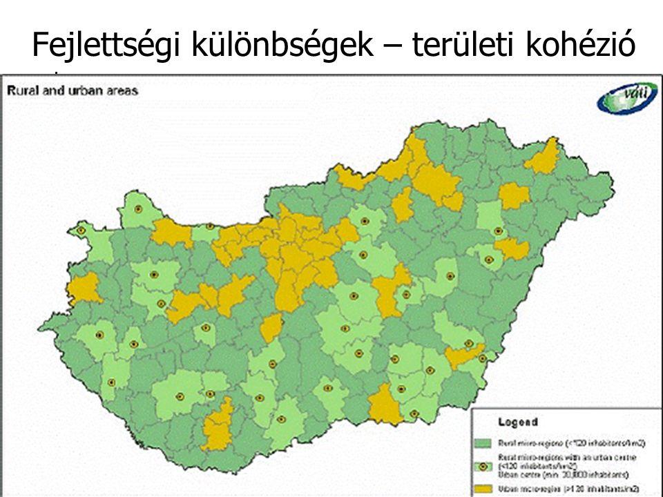 4 Fejlettségi különbségek – területi kohézió