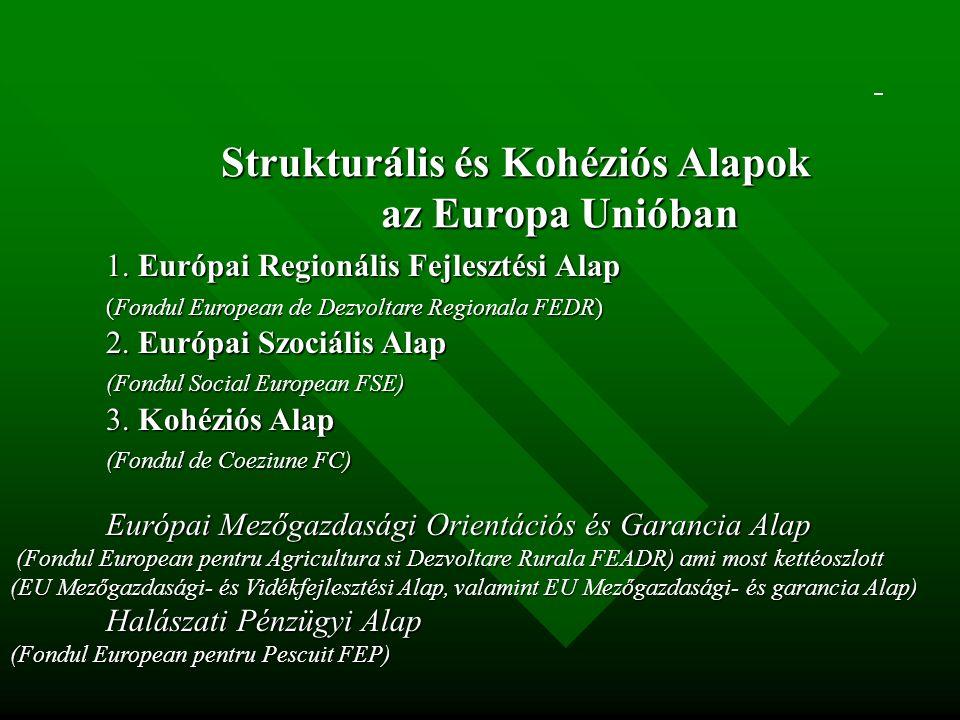 Strukturális és Kohéziós Alapok az Europa Unióban 1.