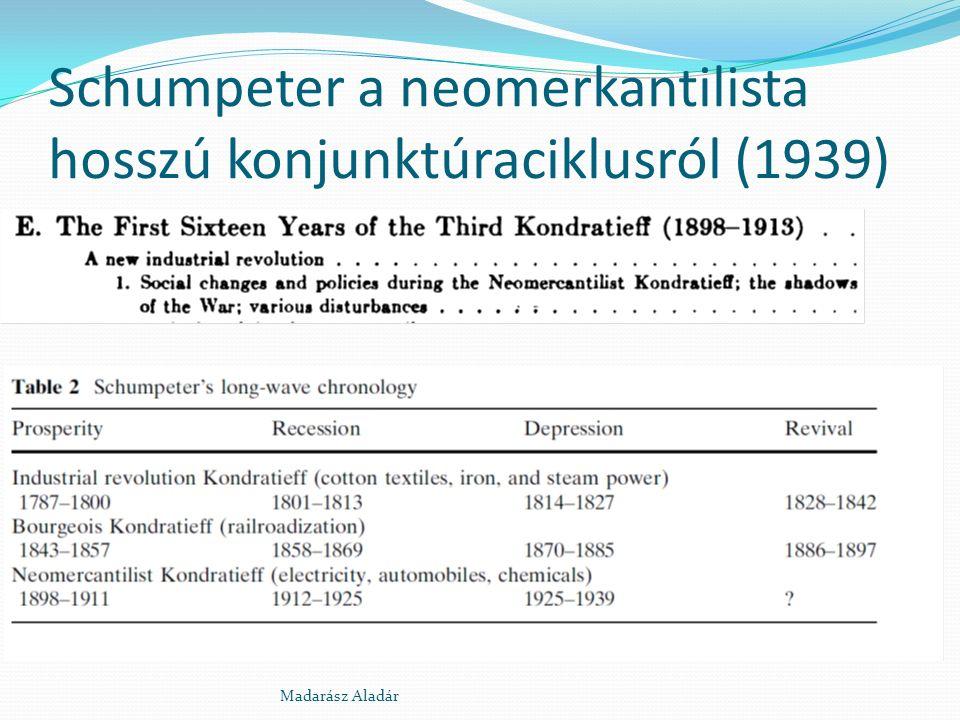 Schumpeter a neomerkantilista hosszú konjunktúraciklusról (1939) Madarász Aladár