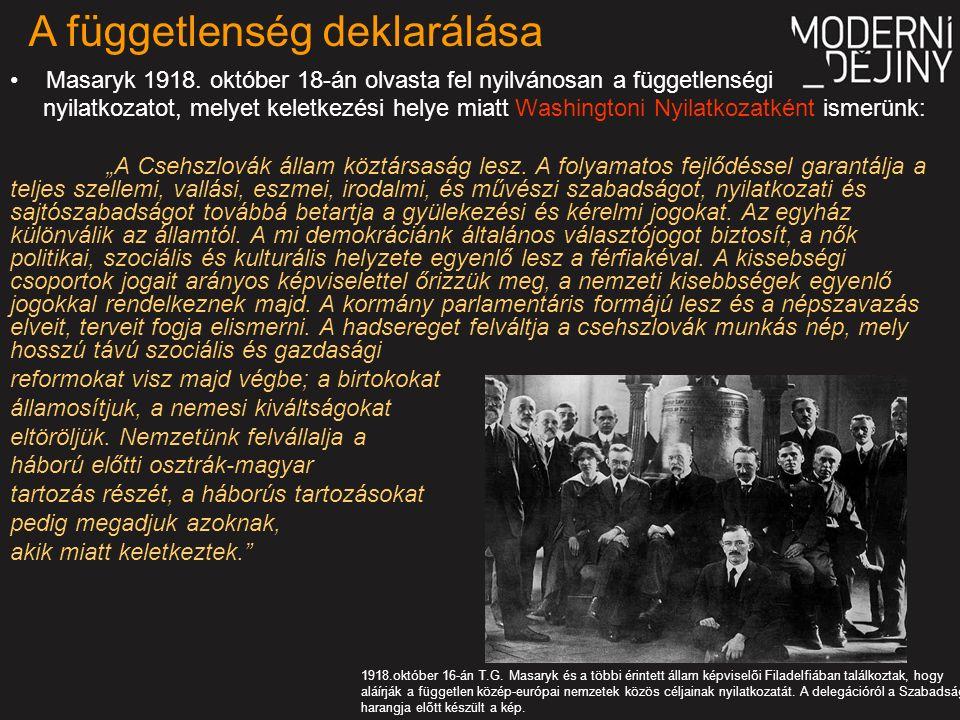 Masaryk 1918.