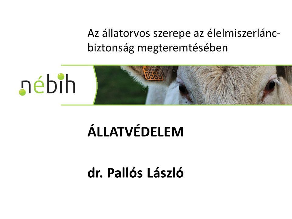 Az állatorvos szerepe az élelmiszerlánc- biztonság megteremtésében ÁLLATVÉDELEM dr. Pallós László