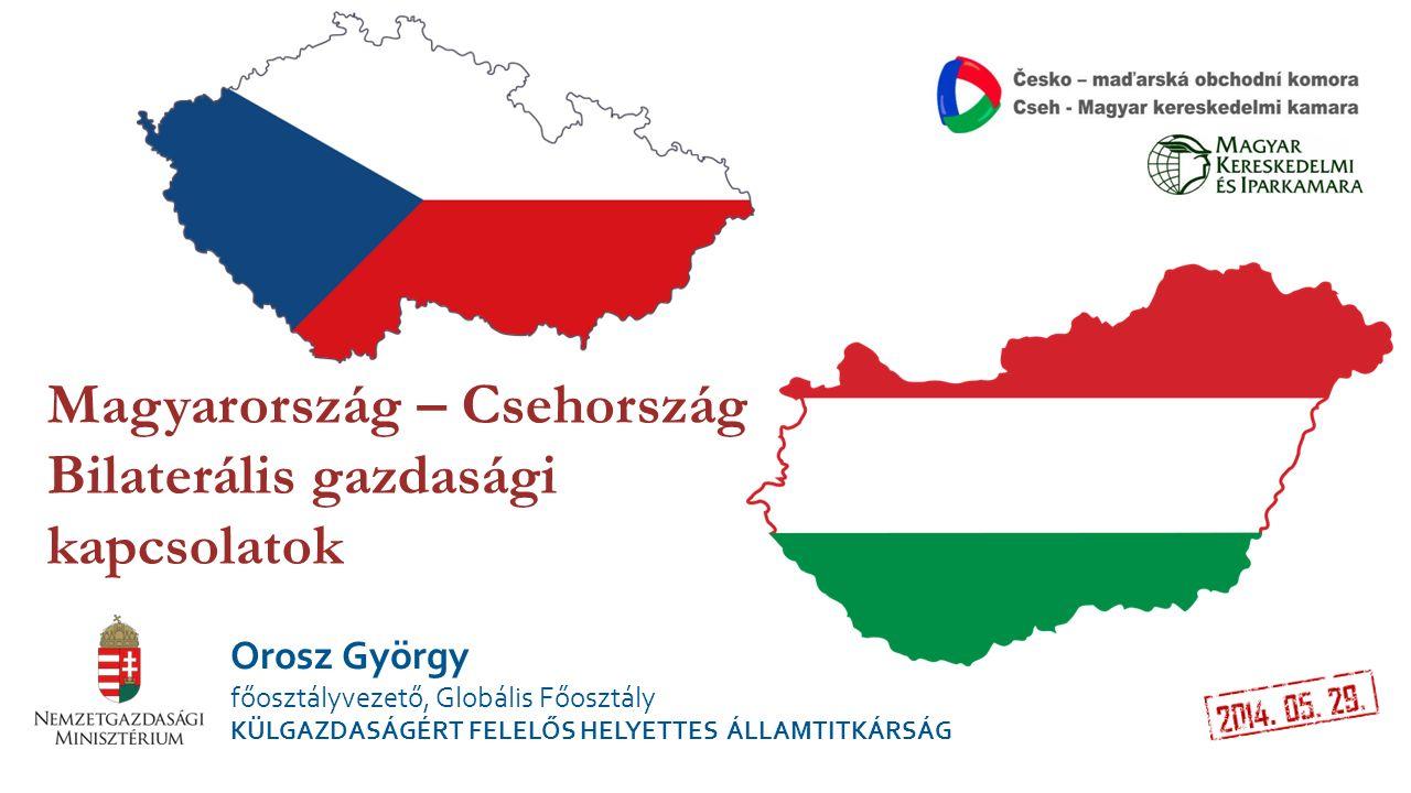 Magyarország – Csehország Bilaterális gazdasági kapcsolatok Orosz György főosztályvezető, Globális Főosztály KÜLGAZDASÁGÉRT FELELŐS HELYETTES ÁLLAMTIT