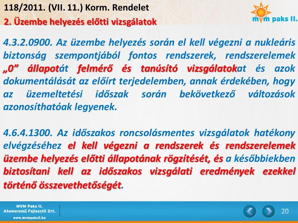 118/2011. (VII. 11.) Korm. Rendelet 2.