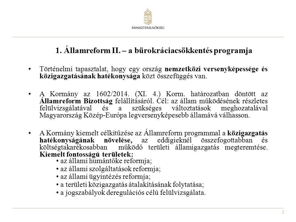 2 1. Államreform II.