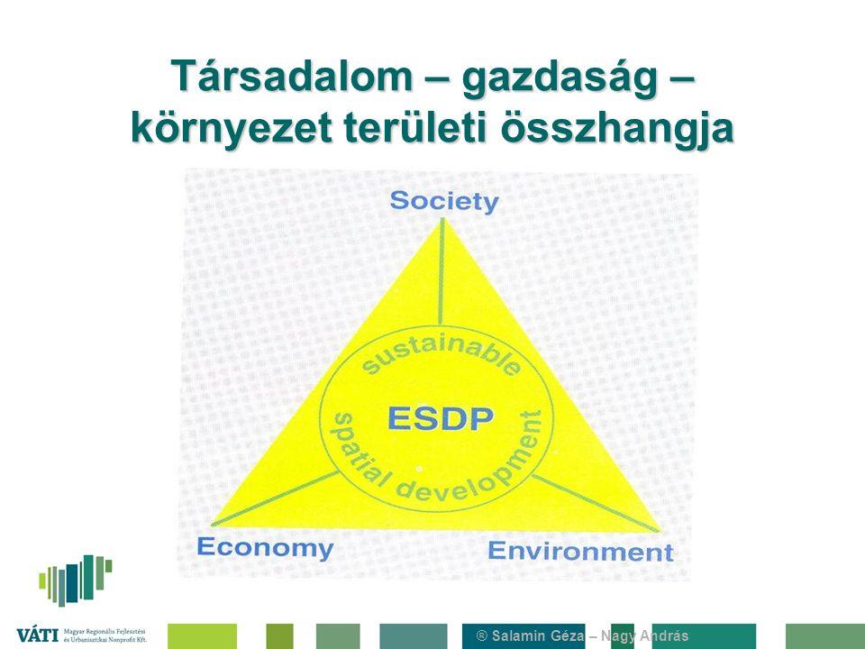 ® Salamin Géza – Nagy András Társadalom – gazdaság – környezet területi összhangja