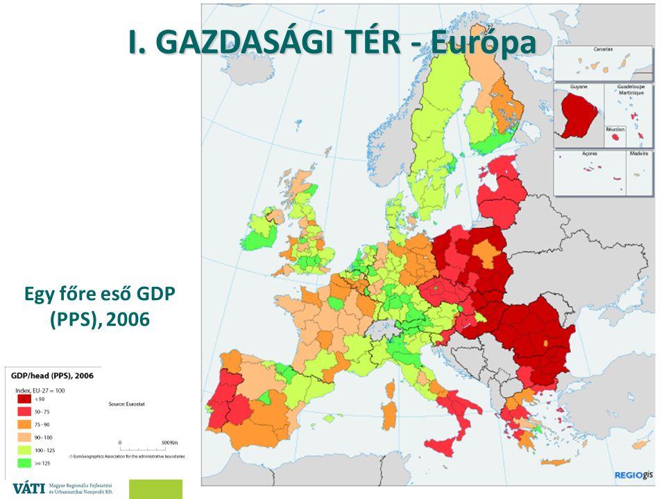 ® Salamin Géza – Nagy András Egy főre eső GDP (PPS), 2006 I. GAZDASÁGI TÉR - Európa
