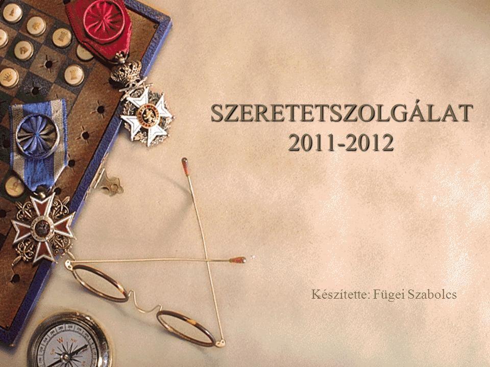 SZERETETSZOLGÁLAT 2011-2012 Készítette: Fügei Szabolcs