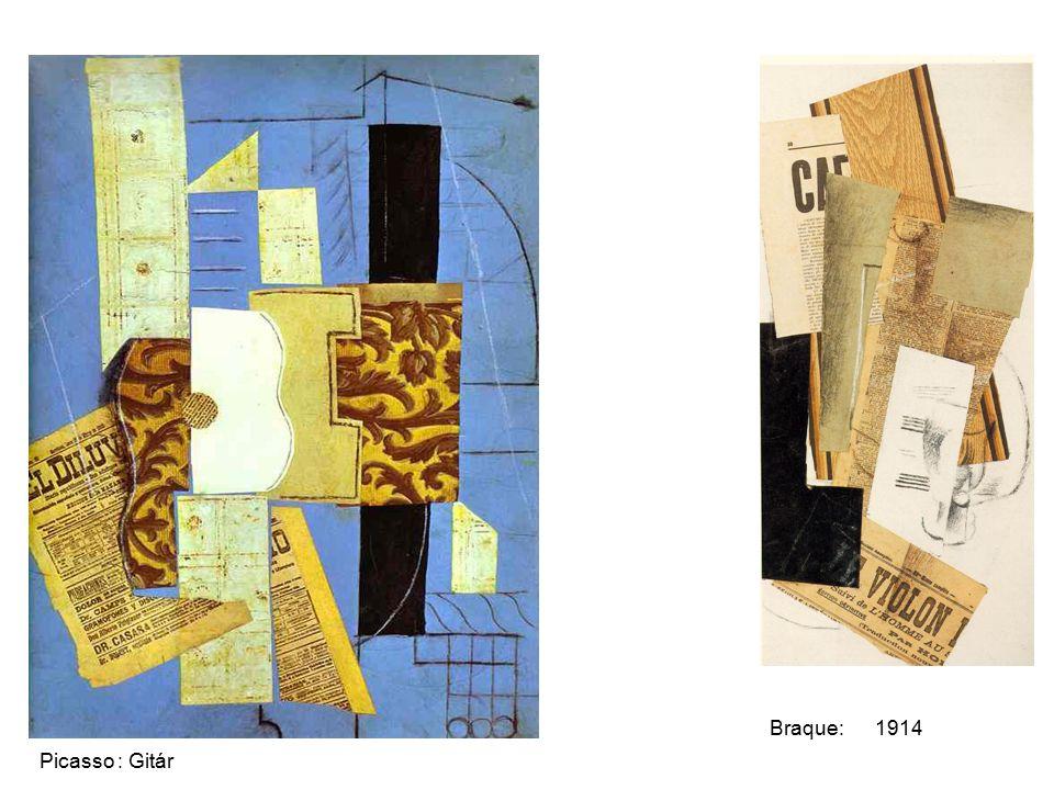 Braque: 1914 Picasso : Gitár
