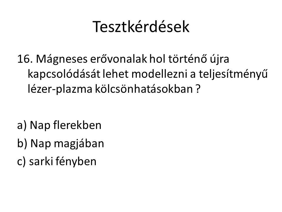 Tesztkérdések 16.