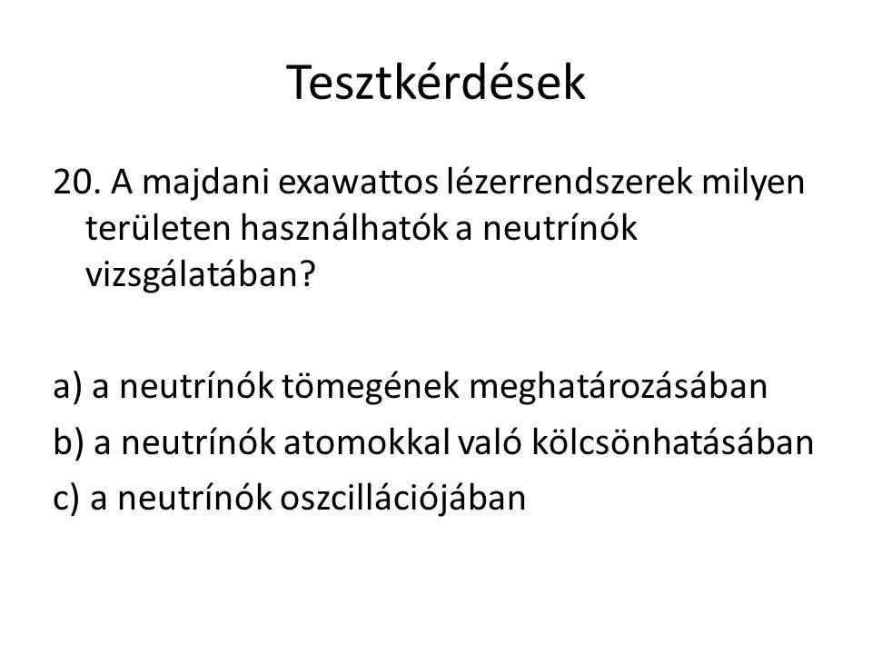 Tesztkérdések 20.