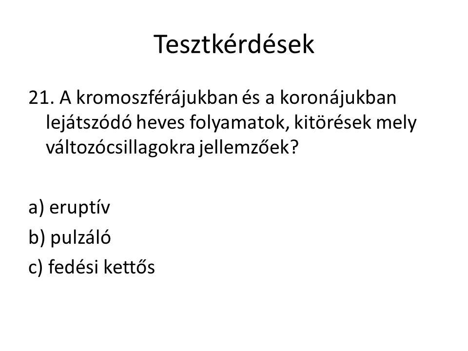 Tesztkérdések 21.
