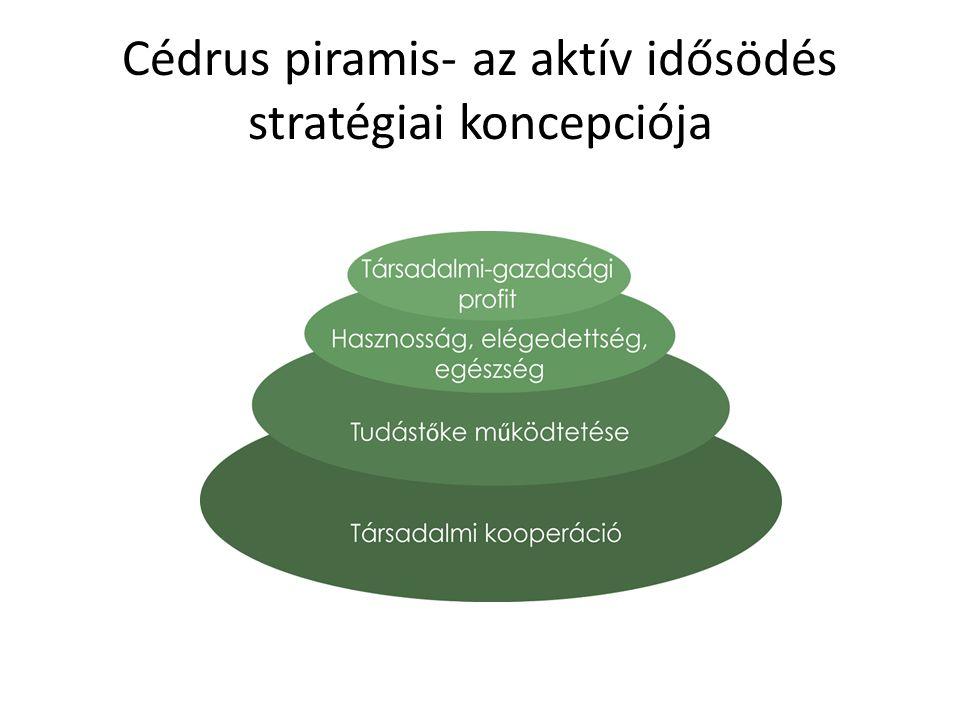 Cédrus piramis- az aktív idősödés stratégiai koncepciója