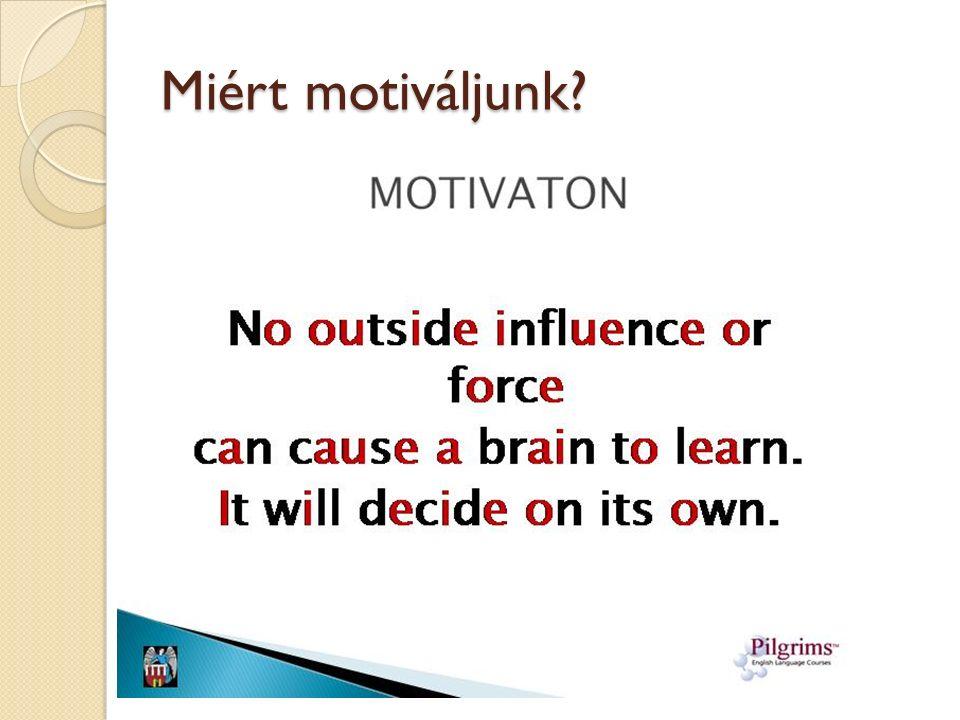 Miért motiváljunk?