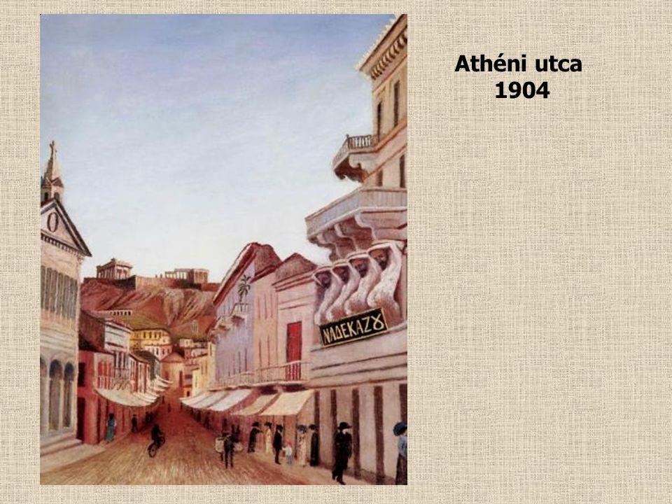 Sétakocsikázás újholdnál Athénben 1904
