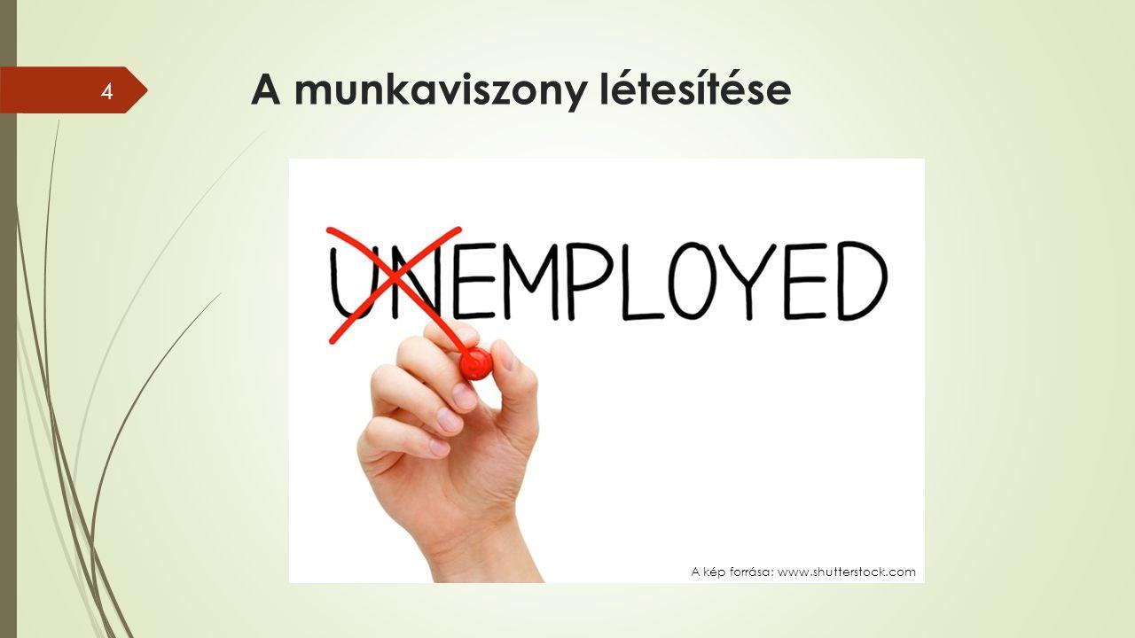 A munkaviszony létesítése 4 A kép forrása: www.shutterstock.com