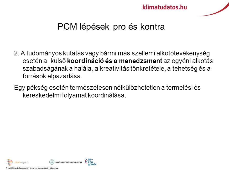 PCM lépések pro és kontra 2.